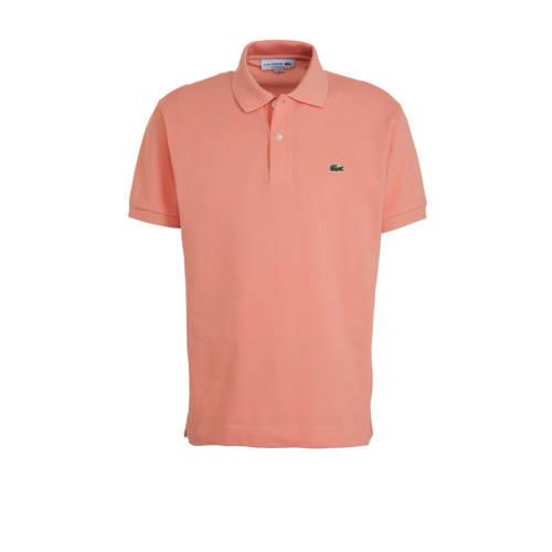 Lacoste regular fit polo met logo roze