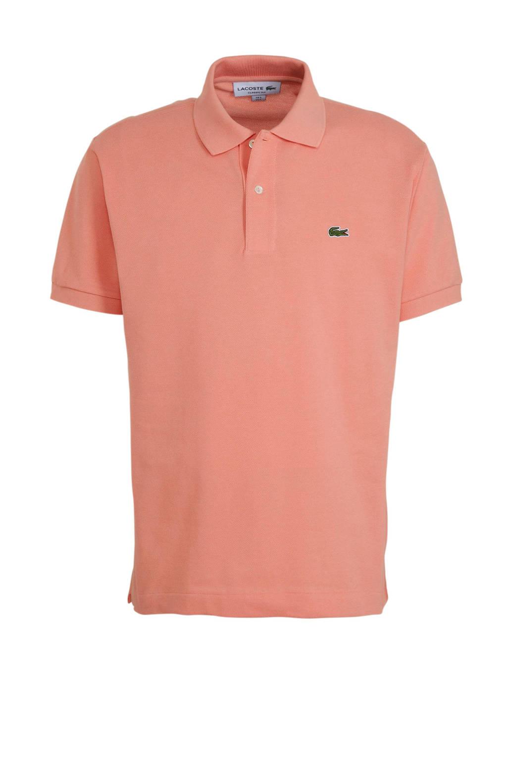 Lacoste regular fit polo met logo roze, Roze