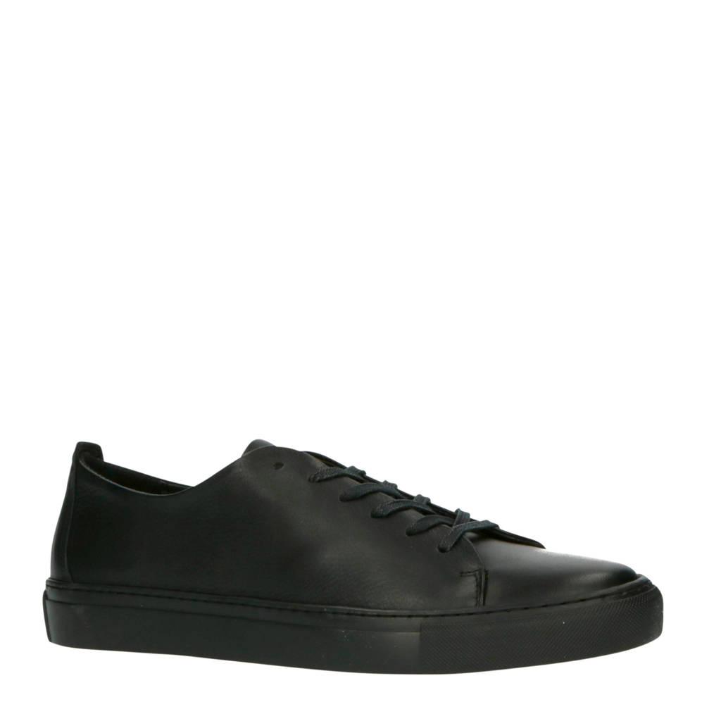 Bianco 64-71734  leren sneakers zwart, Zwart