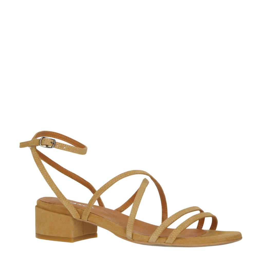 Bianco   suède sandalettes camel, Camel/Lichtbruin