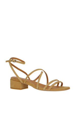 suède sandalettes camel