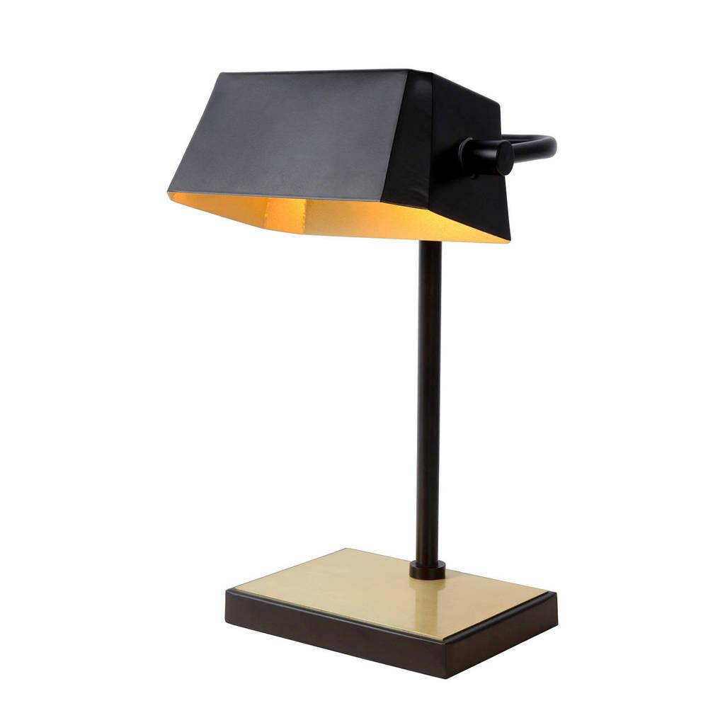 Lucide bureaulamp Lance, Zwart/Mat Goud / Messing
