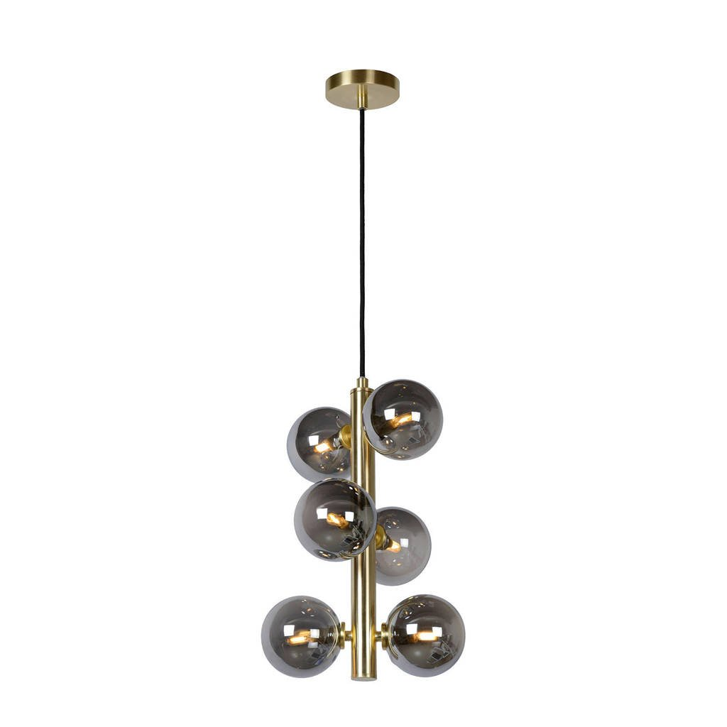 Lucide hanglamp Tycho, Mat Goud / Messing/Fumé