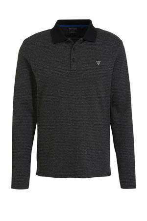 slim fit polo met logo zwart