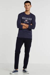 GUESS T-shirt met logo donkerblauw, Donkerblauw