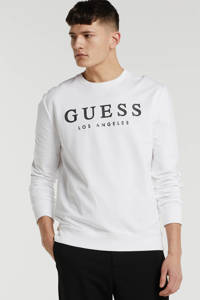 GUESS sweater met logo wit, Wit
