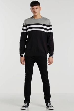 gestreepte sweater zwart