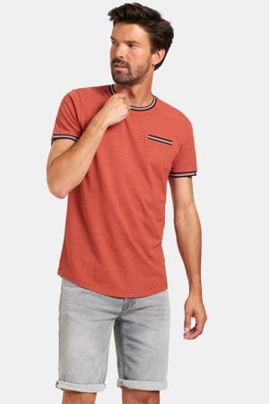 T-shirt rood/blauw