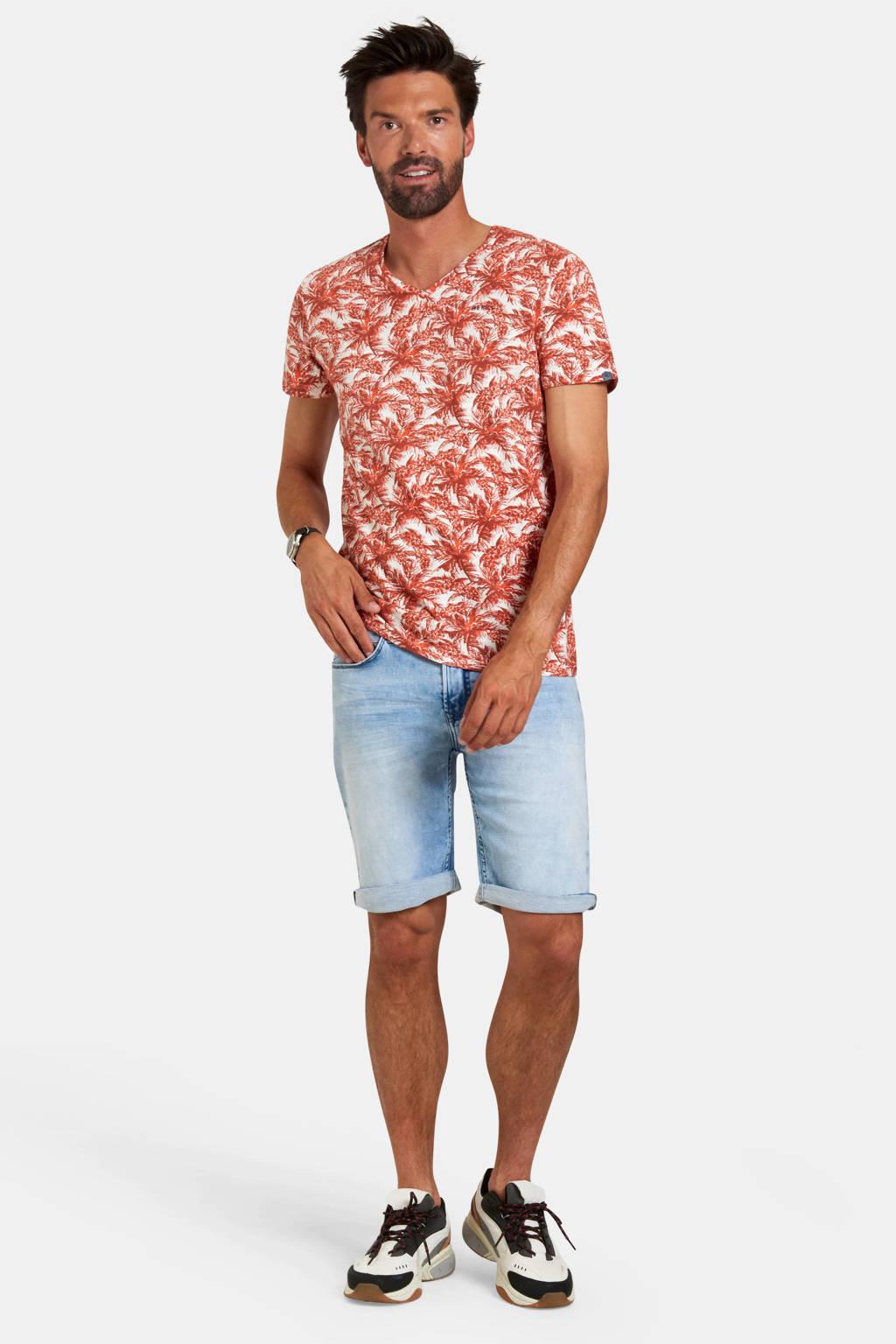 Refill by Shoeby T-shirt met bladprint brique, Brique