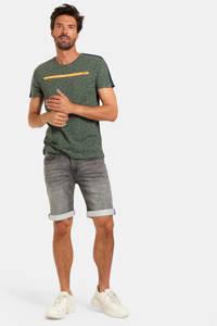 Refill by Shoeby gemêleerd T-shirt donkergroen/oranje, Donkergroen/oranje