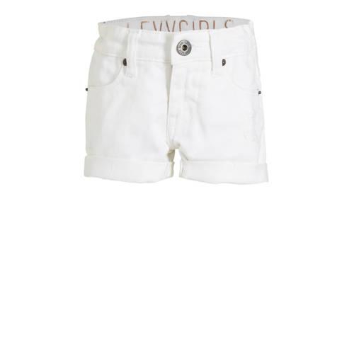LEVV slim fit jeans short Guusje wit