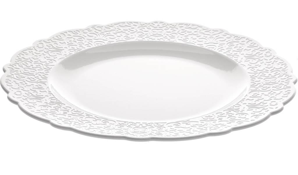 Alessi dinerbord Dressed (Ø27.5 cm), Wit