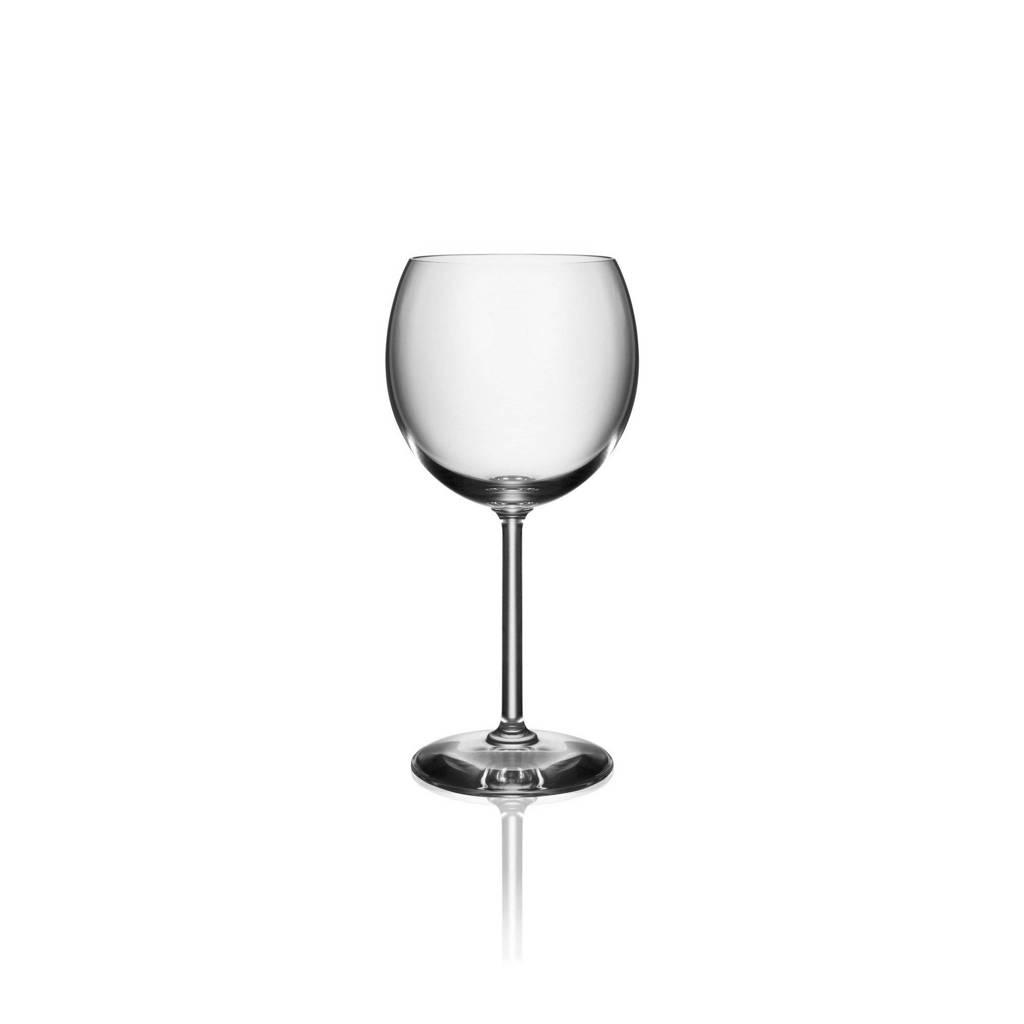 Alessi rode wijnglas Mami, Transparant