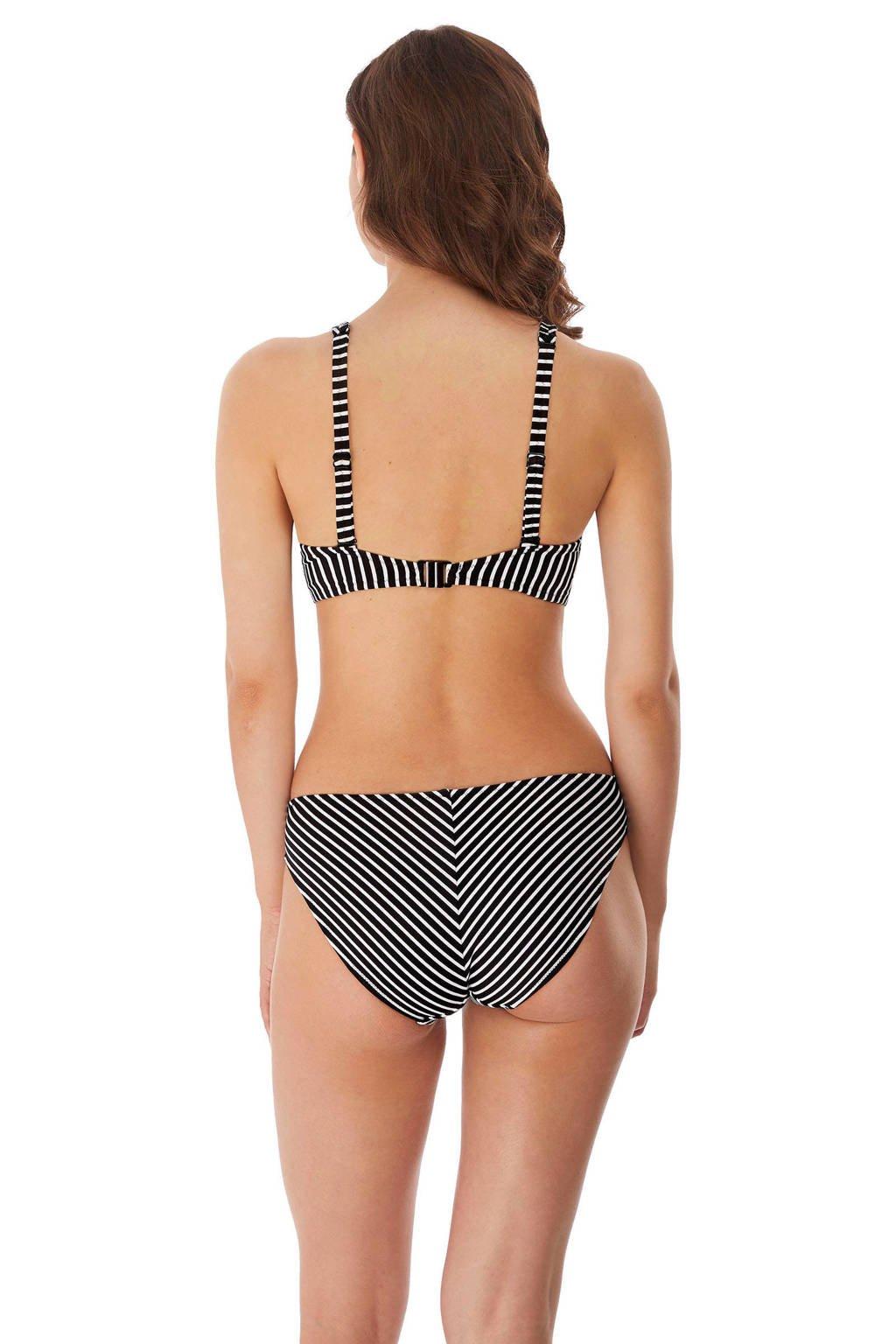 Freya gestreept bikinibroekje Beach Hut zwart/wit, Zwart/wit