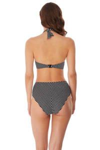 Freya gestreepte halter bikinitop Beach Hut zwart/wit, Zwart/wit