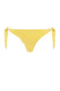 Freya gestreept strik bikinibroekje Beach Hut geel/wit, Geel/wit