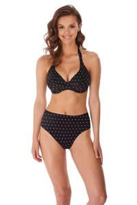 Freya halter bikinitop Jewel Cove zwart, Zwart/wit