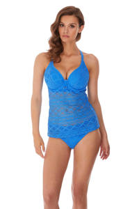 Freya tankinitop Sundance met borduursels blauw, Blauw