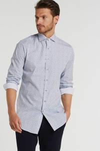 Michaelis slim fit overhemd met mouwlengte 7 wit, Wit