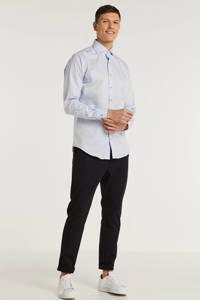 Michaelis gemêleerd slim fit overhemd lichtblauw, Lichtblauw