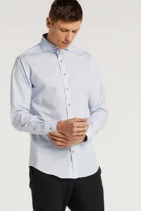 Michaelis gestreept slim fit overhemd lichtblauw, Lichtblauw