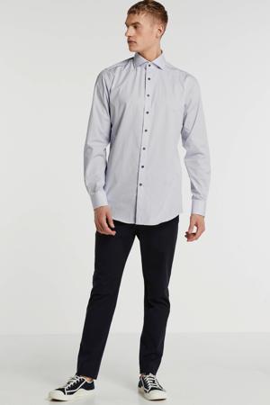 slim fit overhemd mouwlengte 7 wit