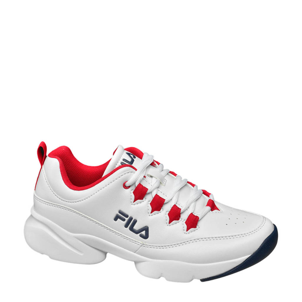 Fila   chunky sneakers wit/rood, Wit/rood