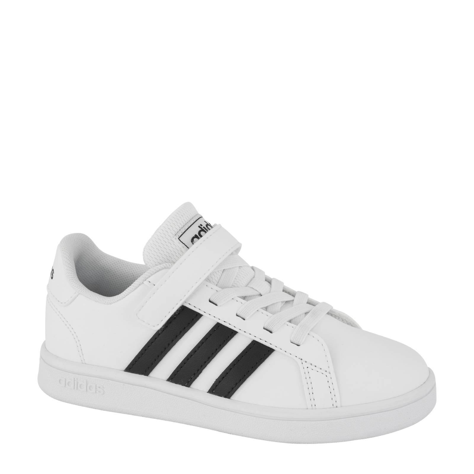 adidas Grand Court sneakers wit/zwart | wehkamp