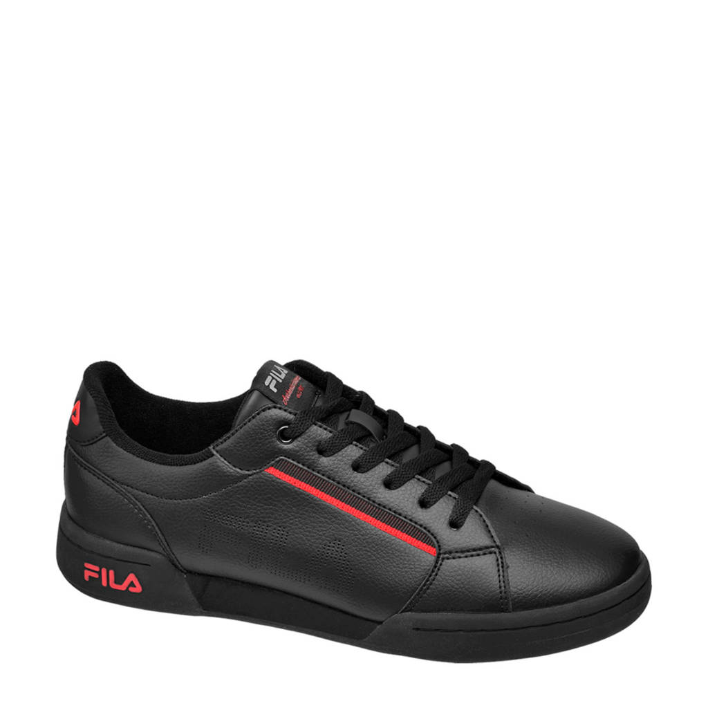 Fila Court  sneakers zwart, Zwart/rood
