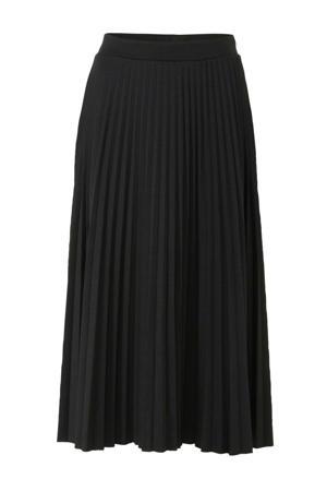 Yessica plissé rok zwart
