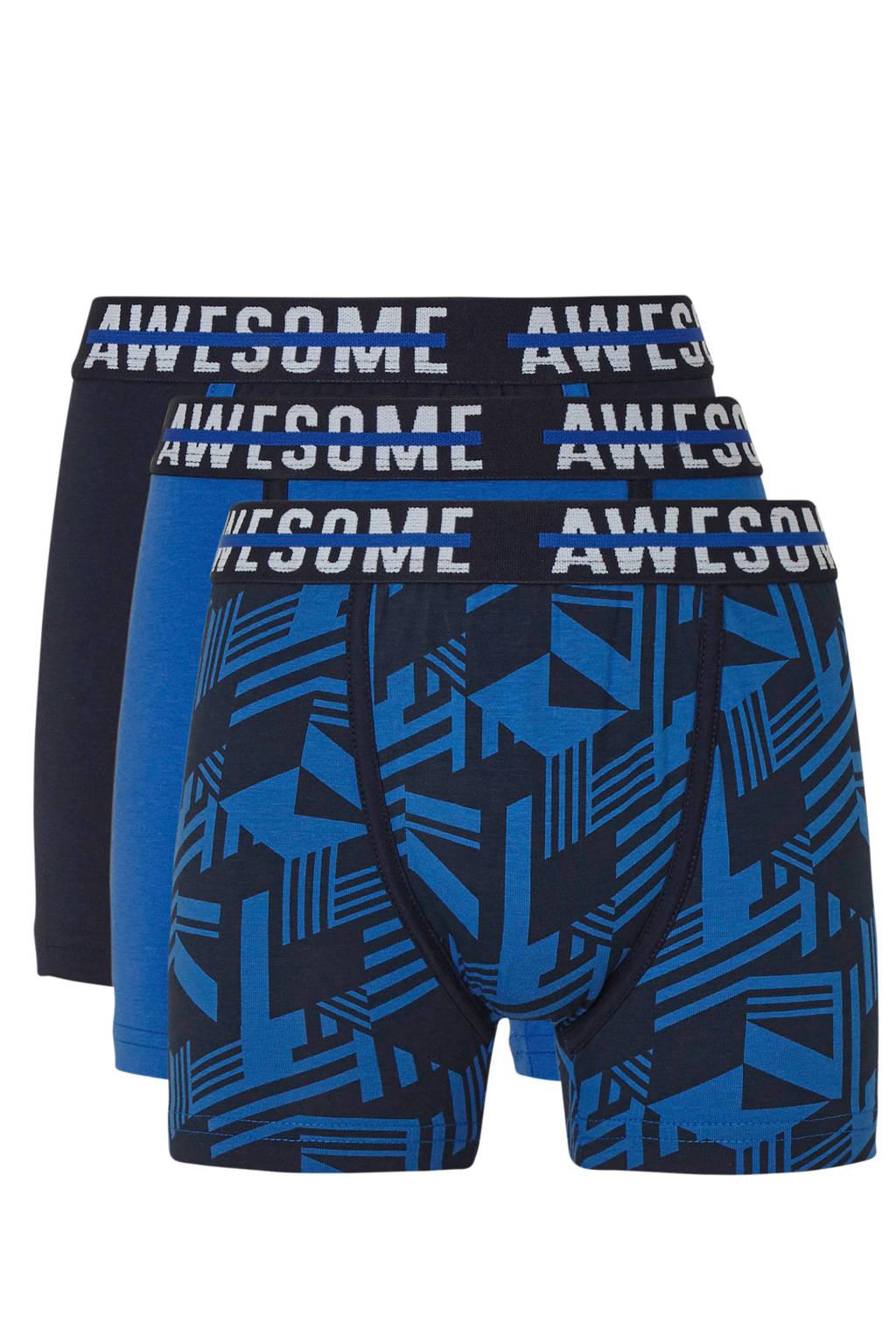 C&A Here & There   boxershorts donkerblauw/zwart - set van 3, Donkerblauw/zwart/wit