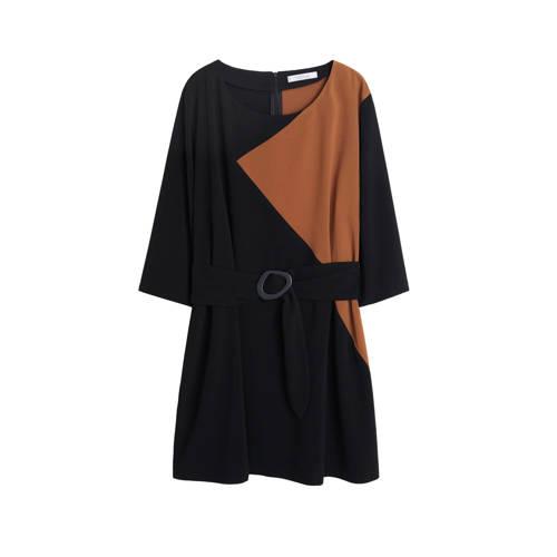 Violeta by Mango jurk met ceintuur