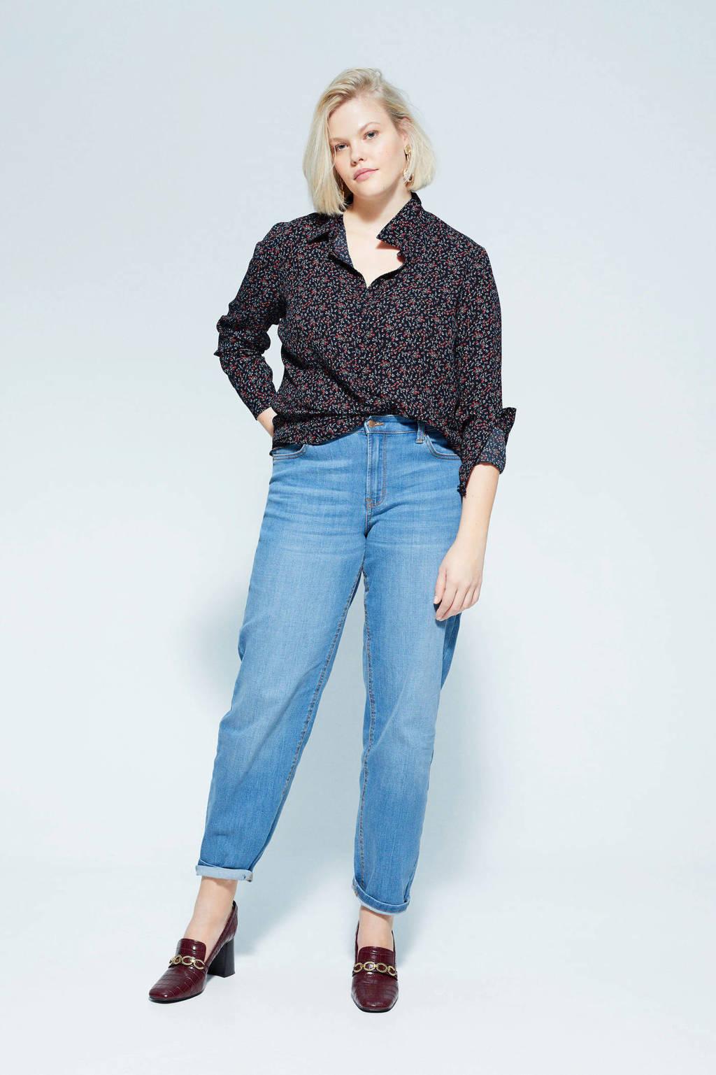 Violeta by Mango gebloemde geweven blouse marineblauw, Marineblauw
