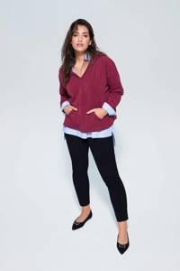 Violeta by Mango super skinny-fit broek, Zwart