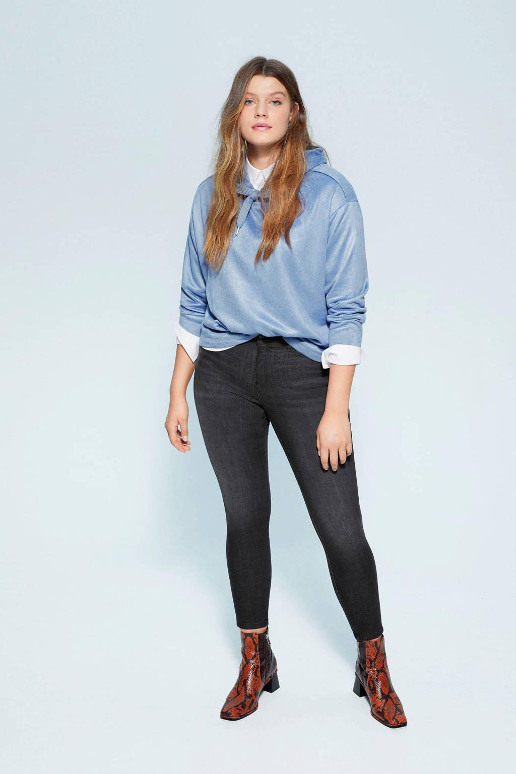 Violeta by Mango super skinny-fit pantalon, Grijs