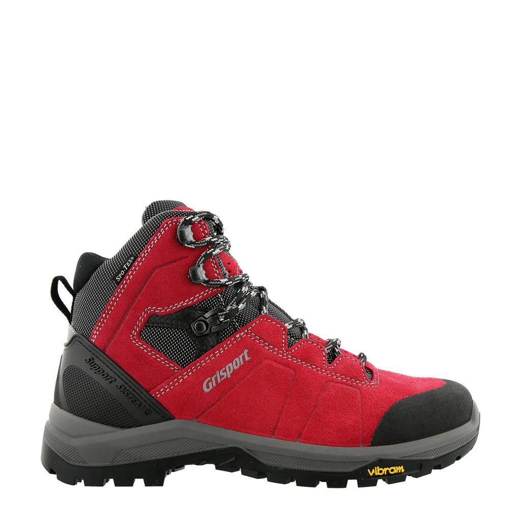 Grisport Como Mid wandelschoenen rood, Rood/grijs