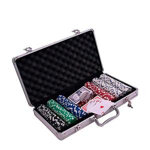 Pokerset aluminium koffer 500 chips denkspel