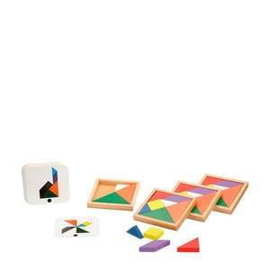 Speed Tangram houten vormenpuzzel 28 stukjes