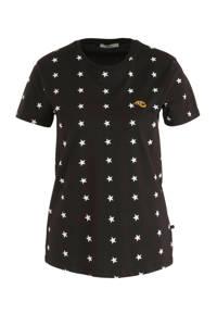 LTB T-shirt Koleha met sterren zwart/wit, Zwart/wit