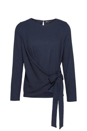 blouse met strikceintuur