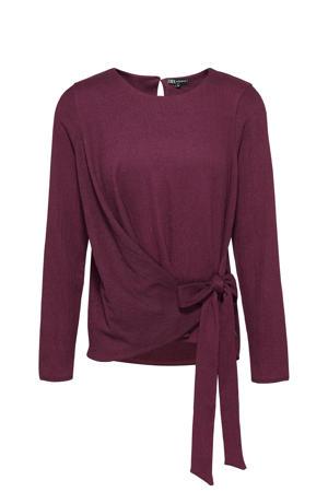 blouse aubergine