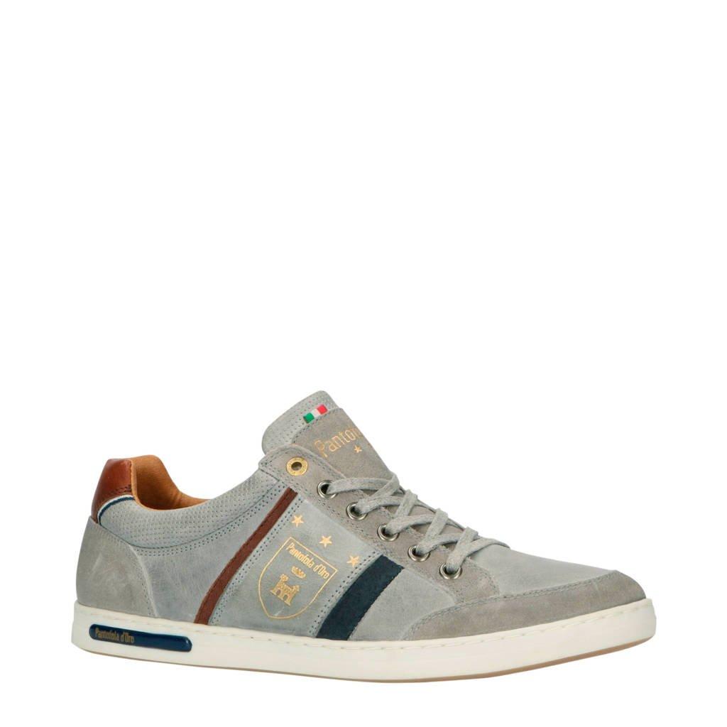Pantofola d'Oro Mondovi Uomo Low  leren sneakers grijs, Grijs