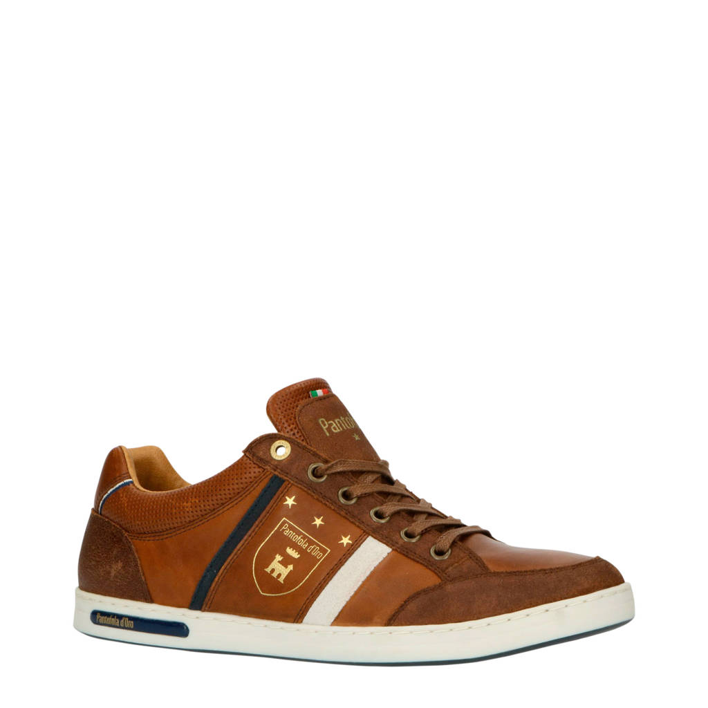 Pantofola d'Oro Mondovi Uomo Low  leren sneakers cognac, Cognac