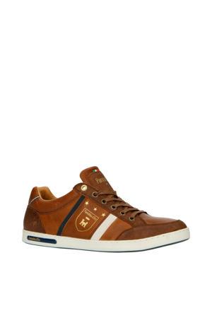Mondovi Uomo Low  leren sneakers cognac