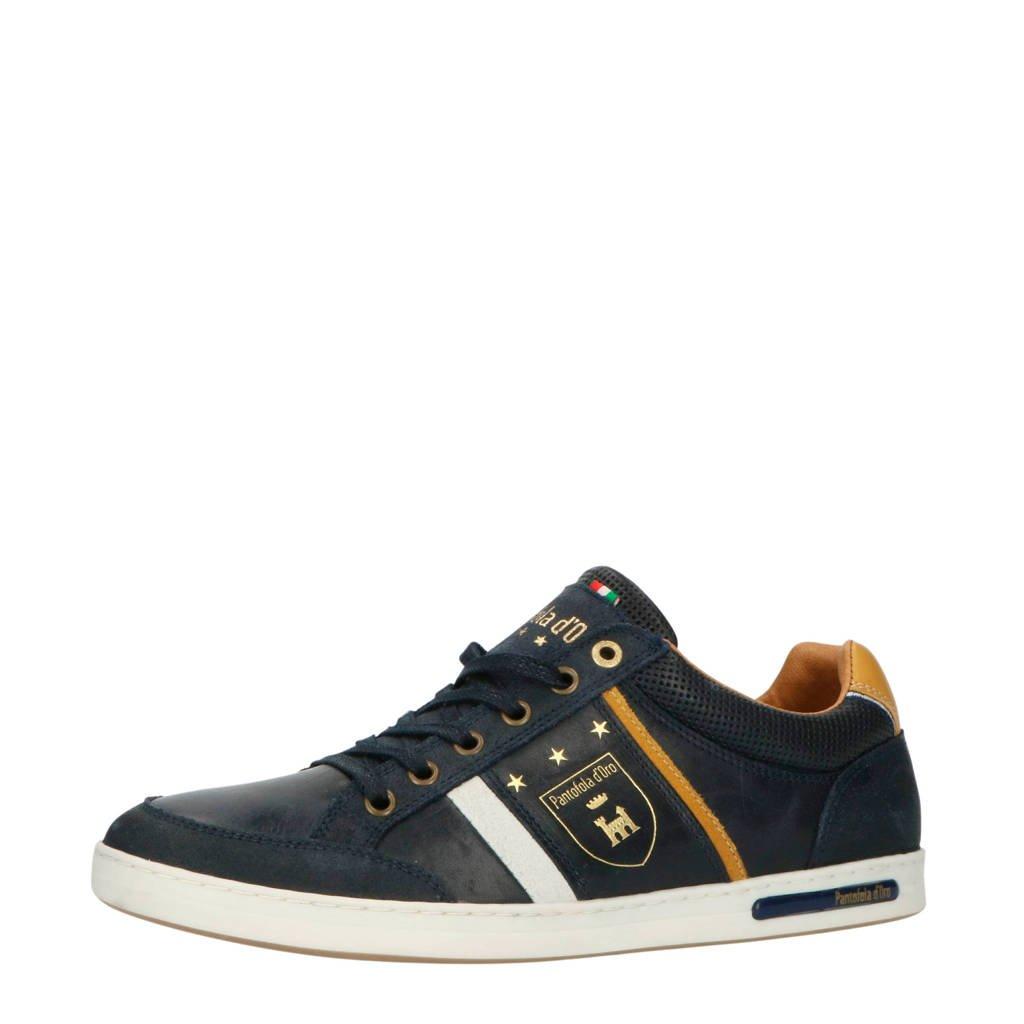 Pantofola d'Oro Mondovi Uomo Low  leren sneakers blauw, Donkerblauw