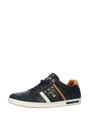 Mondovi Uomo Low  leren sneakers blauw
