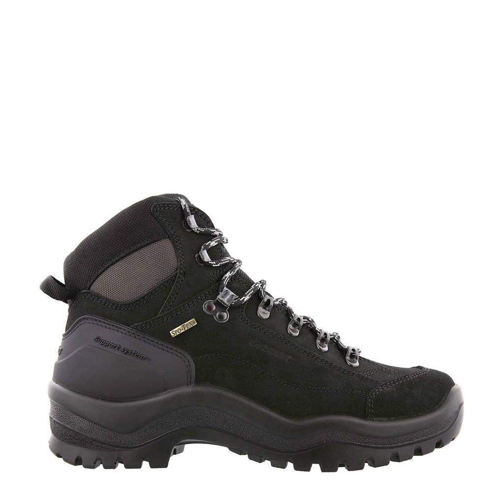 Grisport Bergen Mid wandelschoenen zwart, Zwart
