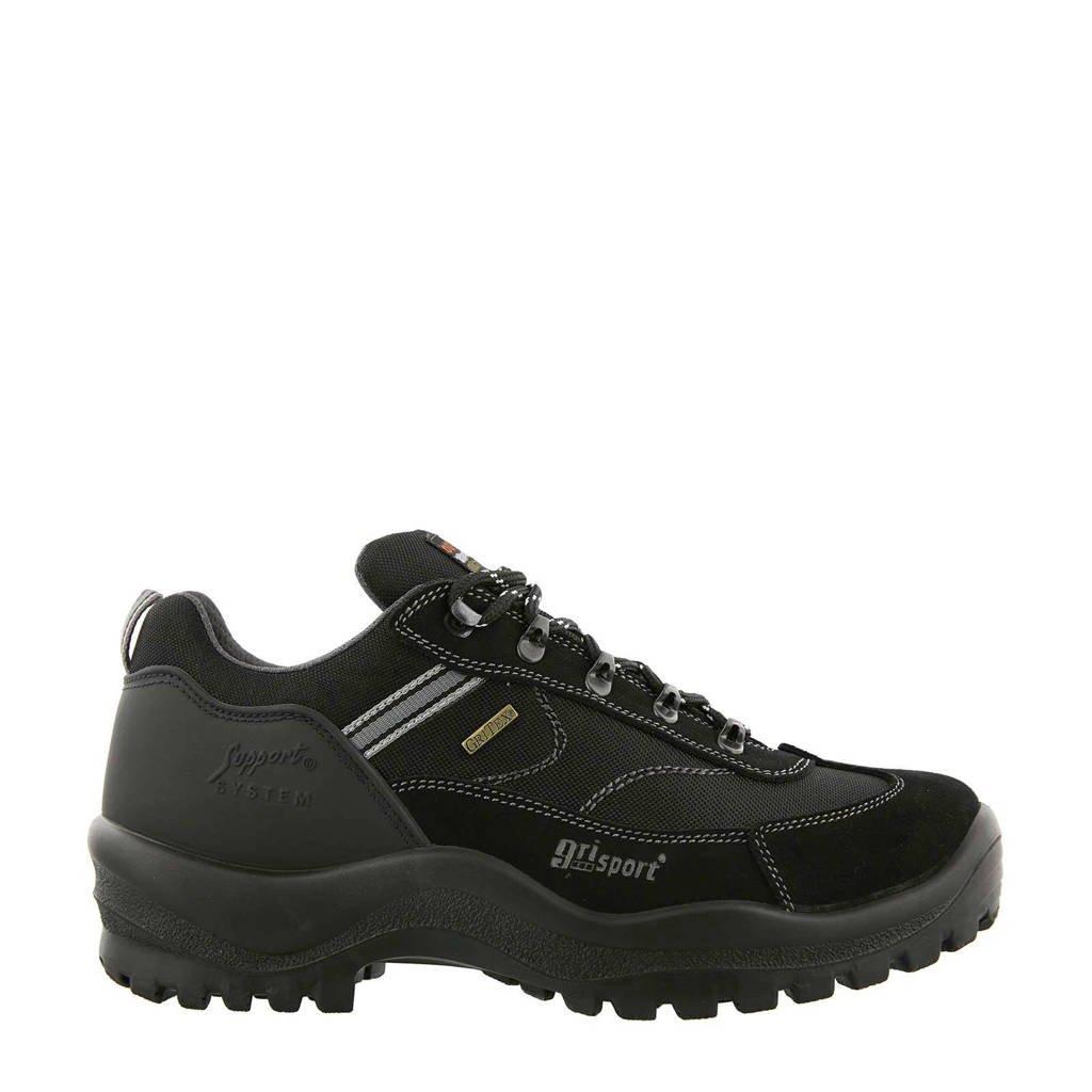 Grisport Torino Low wandelschoenen zwart, Zwart