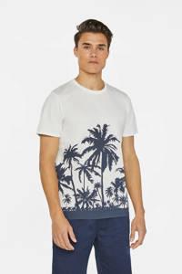 WE Fashion T-shirt met printopdruk wit/donkerblauw, Wit/donkerblauw