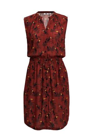 blousejurk met all over print rood/zwart